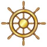 Roda de direcção para a ilustração do vetor do navio Imagem de Stock Royalty Free