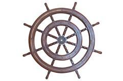 Roda de direcção velha do navio Foto de Stock