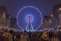 Roda de Elysee Ferris dos campe?es de Paris fotografia de stock