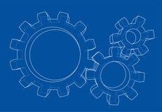 roda de engrenagem 3d Vetor Imagem de Stock