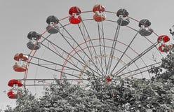 A roda de ferris fotografia de stock