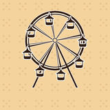 Roda de ferris abstrata Imagens de Stock Royalty Free