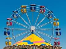 Roda de Ferris & parte superior do carrossel Imagens de Stock