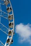 Roda de Ferris branca horizontal fotos de stock royalty free