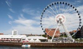 Roda de ferris de Gdansk foto de stock royalty free