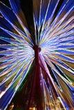 Roda de Ferris de giro colorida abstrata Foto de Stock Royalty Free