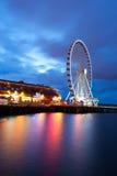 Roda de Ferris do beira-rio imagem de stock