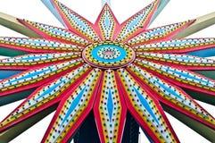 Roda de Ferris do fundo colorido Imagem de Stock