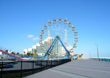 Roda de Ferris e passeio à beira mar em Daytona Beach Fotos de Stock Royalty Free