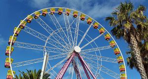 Roda de Ferris em Geelong foto de stock royalty free