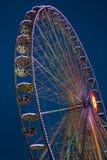 Roda de ferris iluminada Fotos de Stock