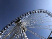 Roda de Ferris no cais da marinha fotografia de stock royalty free