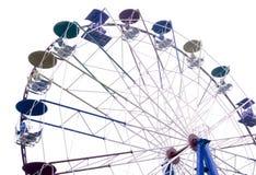 Roda de Ferris no fundo branco Foto de Stock