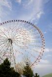 Roda de Ferris no parque da praia Imagens de Stock