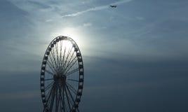 Roda de Ferris no por do sol Foto de Stock Royalty Free