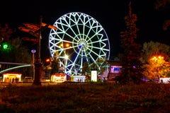 Roda de Ferris nos bancos do rio Amur em Khabarovsk Rússia fotos de stock