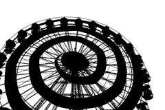 Roda de Ferris preto e branco fotos de stock