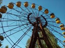Roda de ferris de Pripiat fotografia de stock