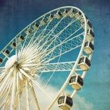 Roda de Ferris retro fotografia de stock