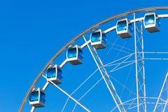 Roda de Ferris sobre o fundo do céu Imagens de Stock Royalty Free