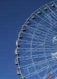 Roda de Ferris Texas Star e lua do ajuste Fotografia de Stock Royalty Free