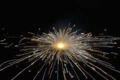 Roda de giro à terra do fogo de artifício Imagens de Stock