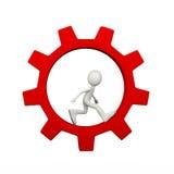 roda de giro interna da roda denteada da engrenagem do homem 3d Imagens de Stock Royalty Free