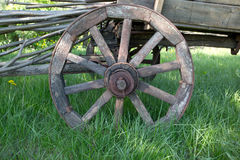 Roda de madeira foto de stock