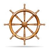 Roda de madeira antiga do navio Imagem de Stock