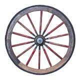 Roda de madeira com o trajeto de grampeamento incluído Imagens de Stock