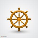 Roda de madeira do navio Imagem de Stock
