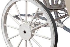 Roda de madeira em um carro velho do cavalo Imagens de Stock Royalty Free