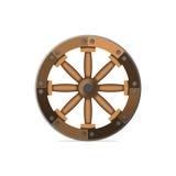 A roda de madeira Uma invenção antiga Isolador da ilustração do vetor Fotografia de Stock Royalty Free