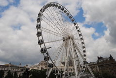 A roda de Manchester imagens de stock