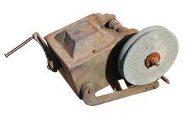 Roda de moedura velha do vintage para apontar facas de cozinha Fotografia de Stock Royalty Free