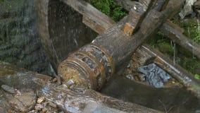 Roda de moinho de gerencio da água video estoque