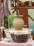 Roda de oleiro Foto de Stock Royalty Free