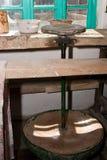 Roda de oleiro velha, mais de 200 anos velho Fotos de Stock