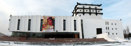 Roda de oração budista e teatro dramático Fotos de Stock