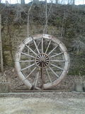 Roda de pá velha da angra do paraíso Foto de Stock