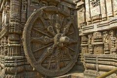 Roda de pedra do Chariot Foto de Stock