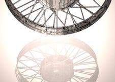 Roda de prata e preta em um branco imagem de stock
