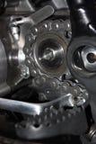Roda de roda dentada com corrente Imagem de Stock