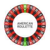 Roda de roleta americana ilustração do vetor