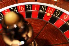 Roda de roleta clássica do casino com bola Foto de Stock Royalty Free