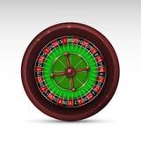 Roda de roleta de jogo do casino realístico isolada no fundo branco Imagens de Stock Royalty Free