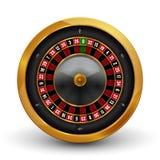 Roda de roleta de jogo do casino realístico isolada no fundo branco Ilustração da roda de roleta da sorte da possibilidade do jog Imagem de Stock Royalty Free