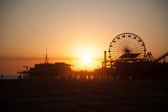 Roda de Santa Monica Pier Ferris Imagens de Stock Royalty Free