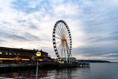 Roda de Seattle Ferris fotografia de stock royalty free