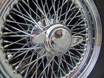 Roda de Spoked Chrome do carro de esportes Foto de Stock Royalty Free